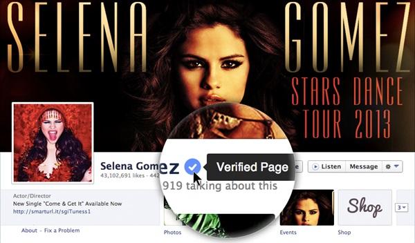 hashtags y cuentas verificadas en Facebook