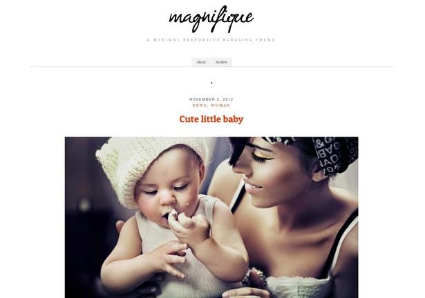 Temas WordPress gratis y reponsive para blogs Magnifique