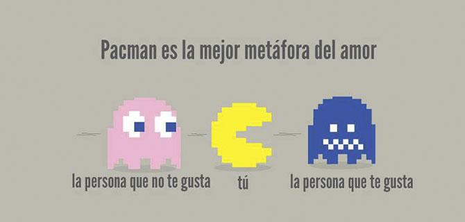 Pacman es la mejor metáfora del amor