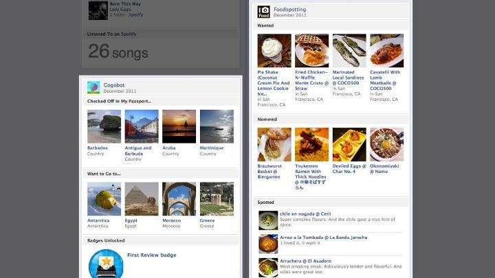 aplicaciones en el timeline de facebook
