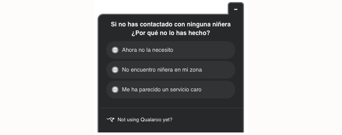 Feedback de usuarios con Qualaroo