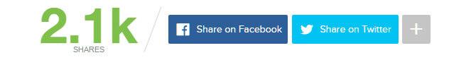 Botones para compartir de Mashable