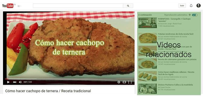 Vídeos relacionados YouTube
