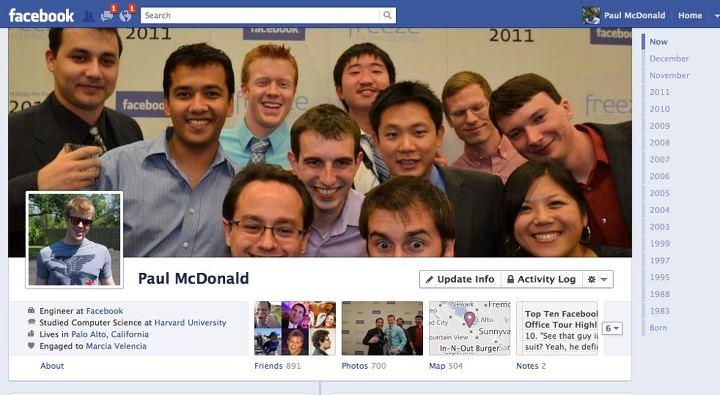 Evolución de Facebook timeline
