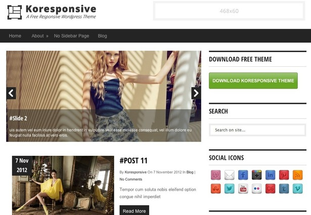 Tema de WordPress gratis Koresponsive