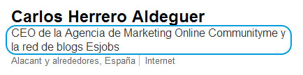Titular de LinkedIn con palabras clave