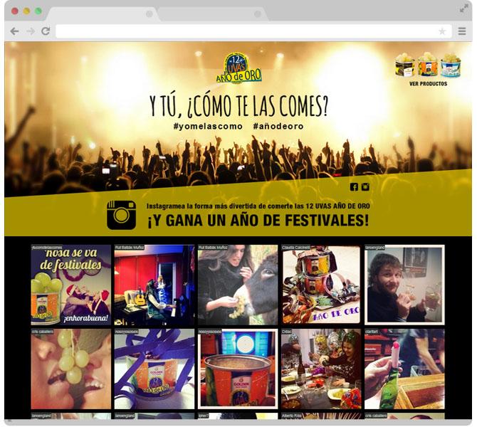 Ejemplo de web para un concurso en Instagram