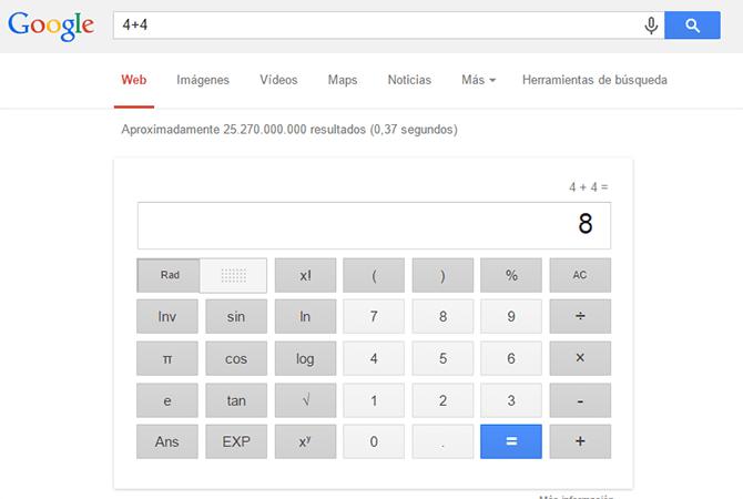 Calculadora resultados Google