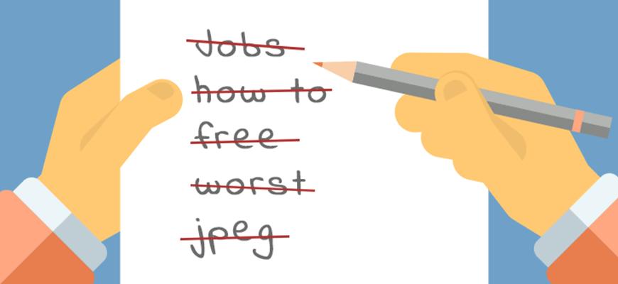 Palabras clave negativas Adwords