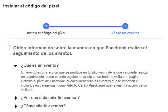 facebook pixel evento configurar
