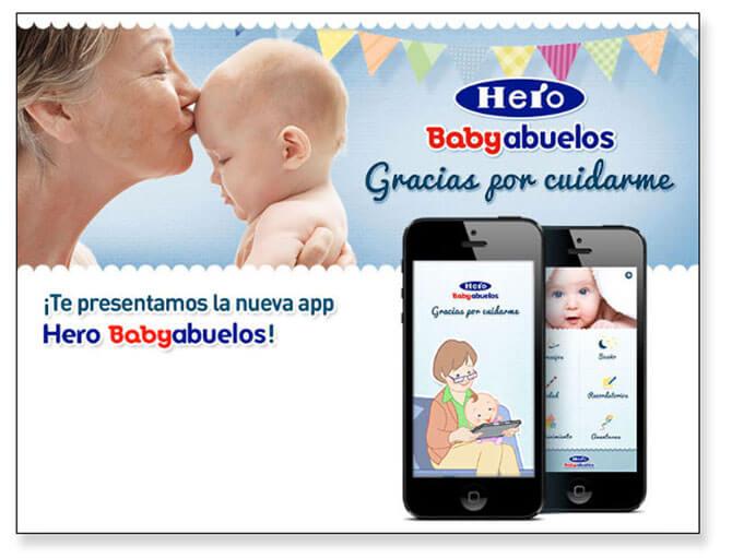 App de Herobaby para abuelos