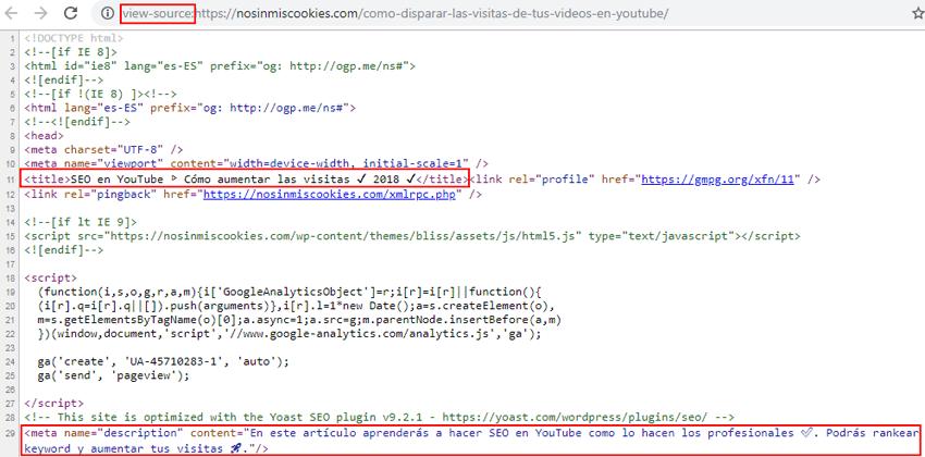 Como ver las etiquetas HTML de una página